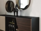 ASTON, Sideboard with doors in soft leather