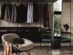 Clothes hanger mirror